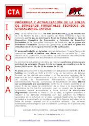 PRÓRROGA Y ACTUALIZACIÓN DE LA BOLSA DE BOMBEROS FORESTALES TÉCNICOS DE OPERACIONES, INFOCA