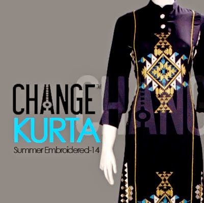 Summer Embroidered Kurta's Dresses by Change