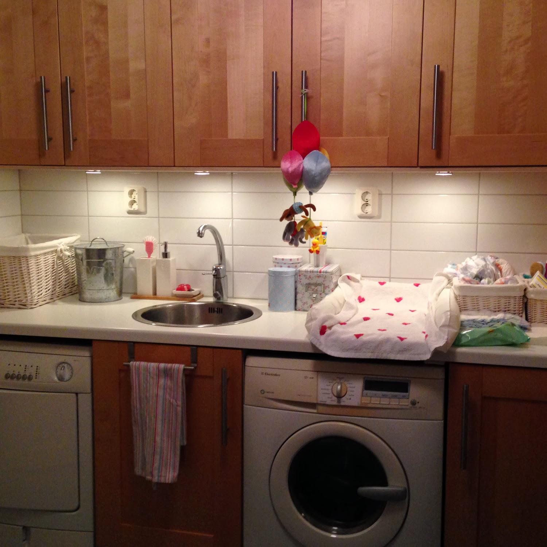 Karins lilla blogg ♥ ♥ ♥: belysning i tvättstugan