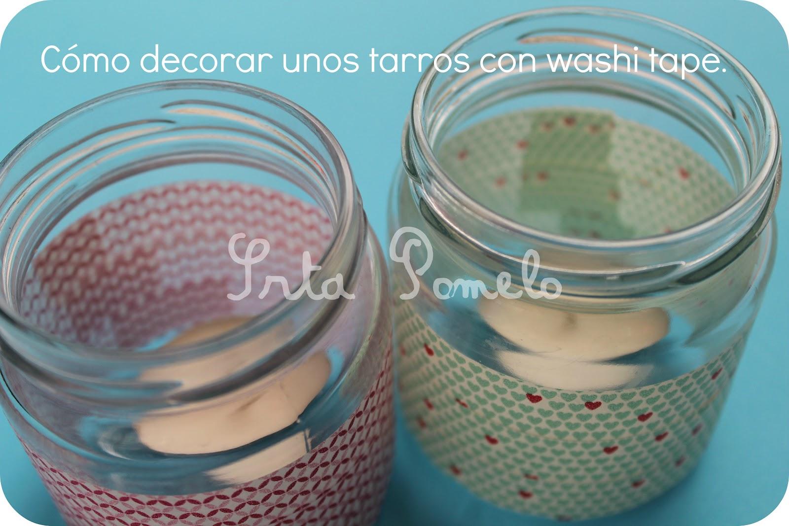 Srta pomelo tutorial c mo decorar unos tarros con washi tape - Decorar con washi tape ...