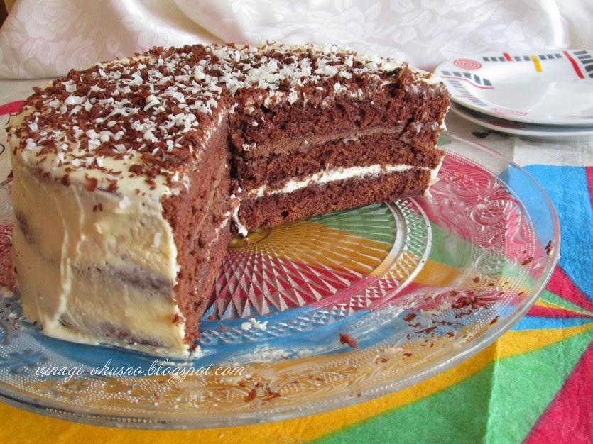 Шоколадова торта с крем Тирамису