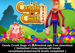 Candy Crush v1.43.1 unlimited moves Hacked Apk