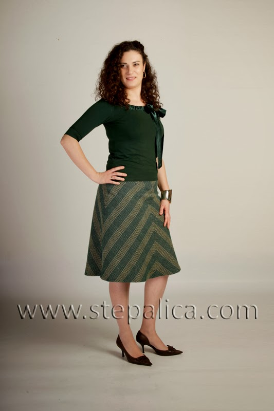 Stepalica: Zlata skirt pattern - skirt from lining pattern