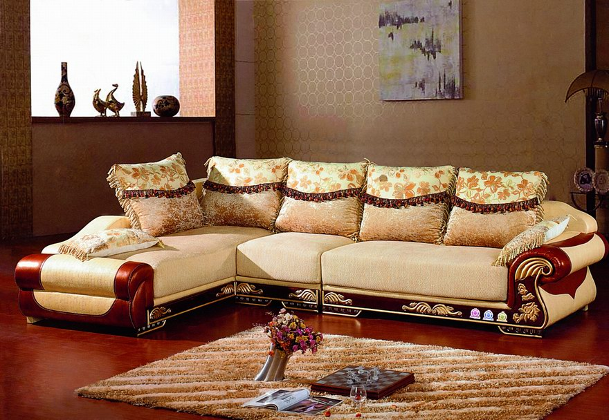 Modern Wooden Leather Sofa Designs An Interior Design