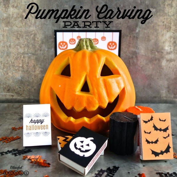 Pumpkin Carving Party Ideas With Free Printables from Blissful Roots