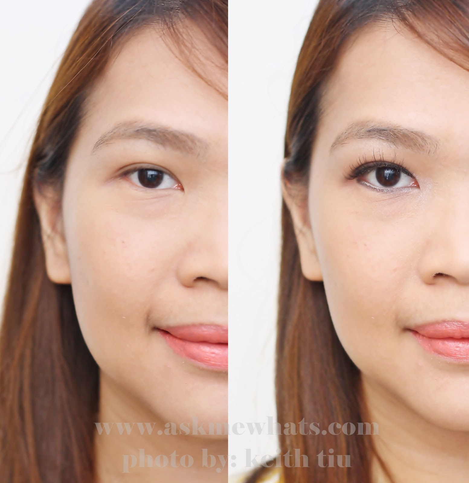 A photo on how to create bigger looking eyes in 5 minutes