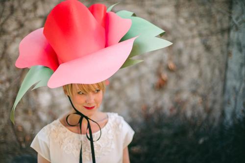 Цветок шляпка своими руками