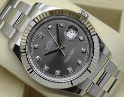 New in Box Rolex DateJust-II Rhodium Diamond Dial