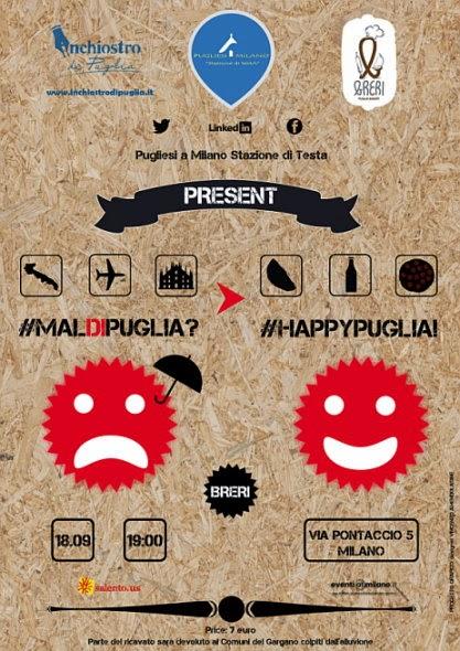 18 settembre 2014: appuntamento al Breri Puglia Bistrot di Milano per #maldipuglia?!#happypuglia