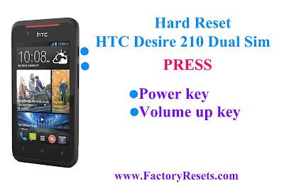 Hard Reset HTC Desire 210 Dual Sim