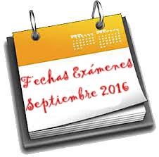 Exámenes Septiembre 2016