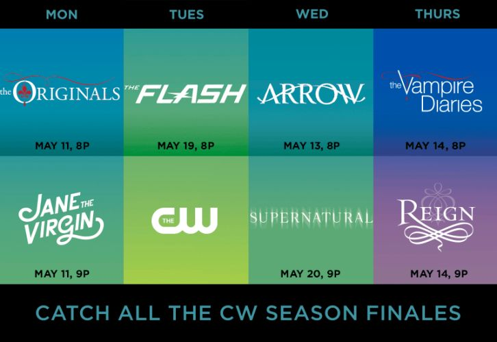 The CW - May 2015 Season Finale Dates