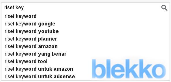 riset keyword di Blekko