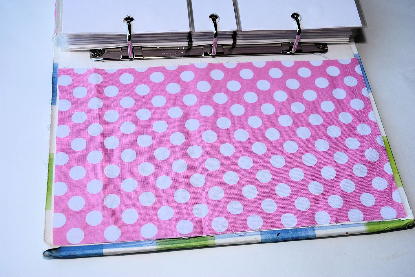 Fabric Notebook Cover : Fabric covered notebook or binder
