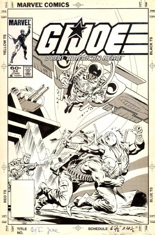 Marvel Comics Of The 1980s 1984 Anatomy Of A Cover Gi Joe 24