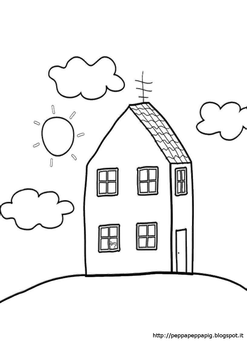 Il blog di peppa pig disegni da colorare for Disegni di casa da stampare e colorare