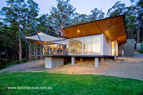 Casa de retiro australiana en una foresta