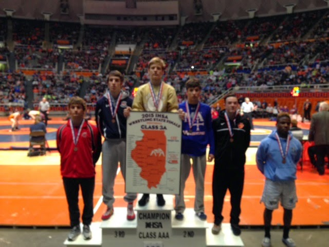DGS Wrestling: Johnson Places 6th at 2015 IHSA State Tournament!!!!
