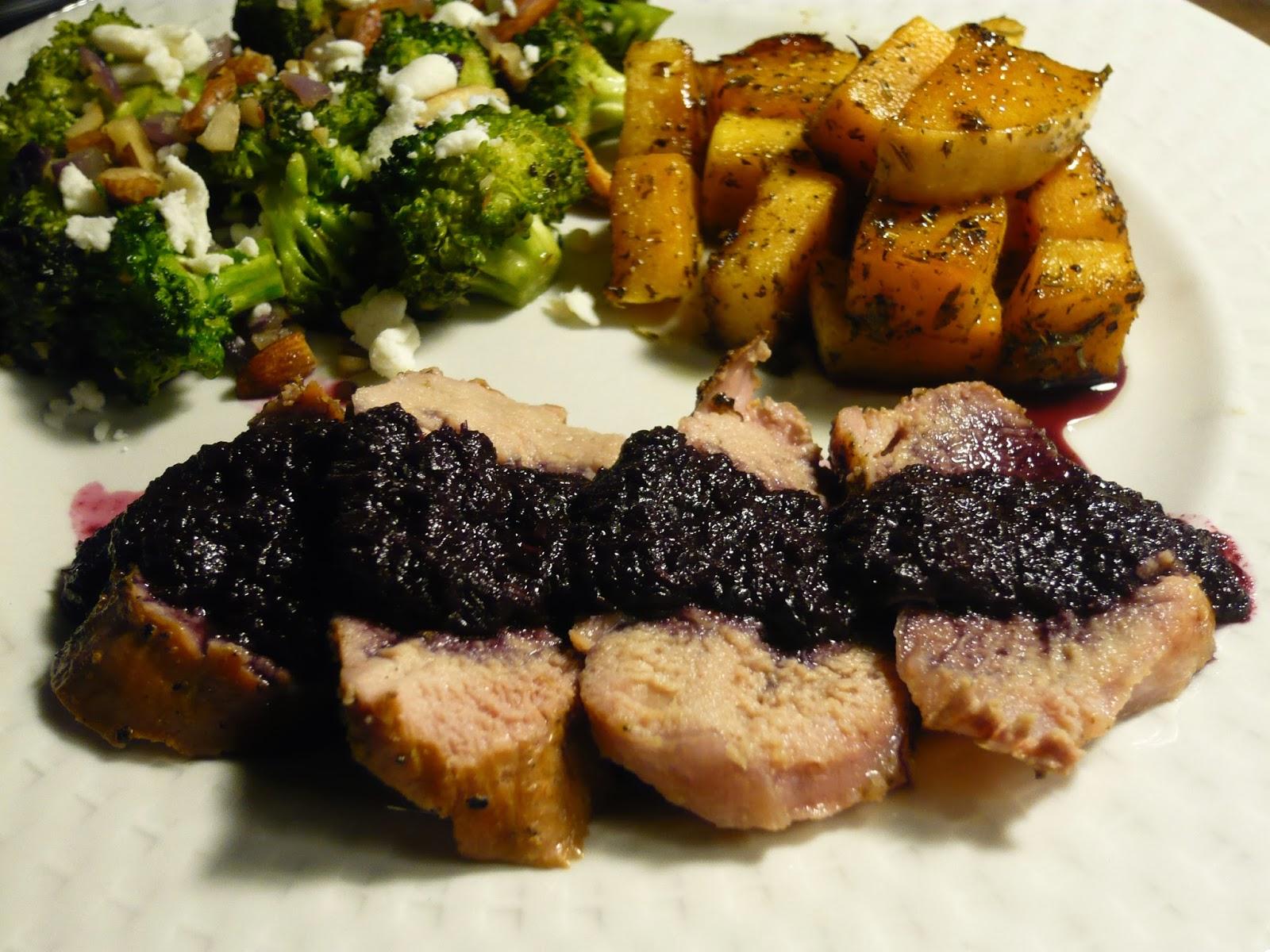 ... Contest: Grilled Pork Tenderloin with Citrus Blueberry Balsamic Sauce
