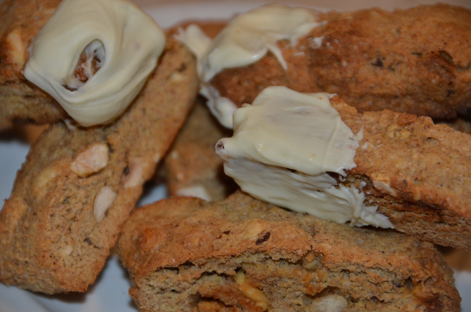 The Martha in Me: Pumpkin Hazelnut White Chocolate Biscotti