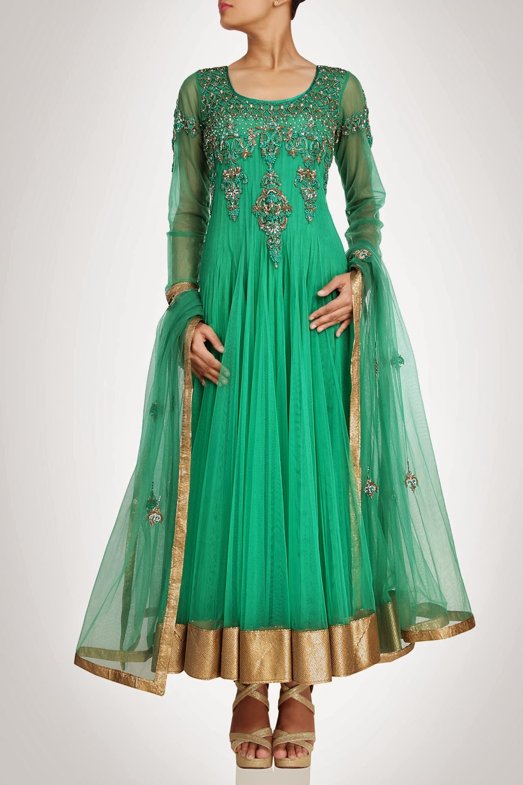 Best Indian Wedding Wear Anarkali Dresses Design by Pradeep Agarwal ...