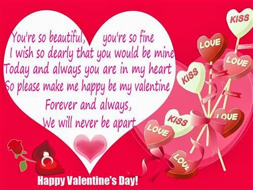 Romantic Valentine's Day Poems For Him 2014