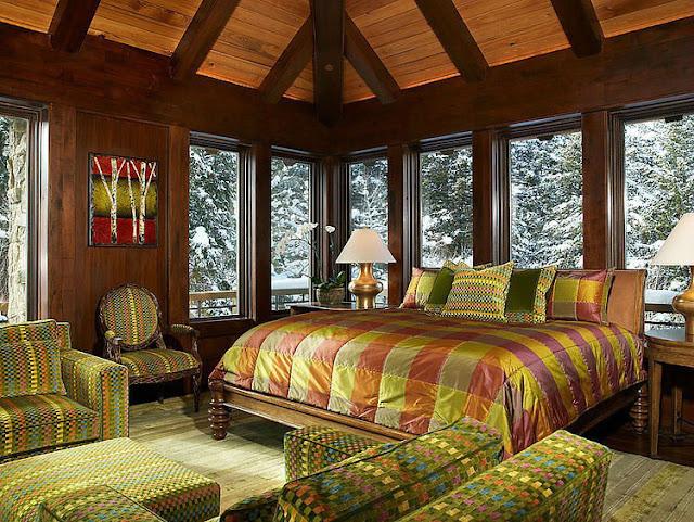 зимний интерьер дома