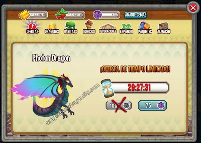 imagen de la oferta especial del dragon photon de dragon city