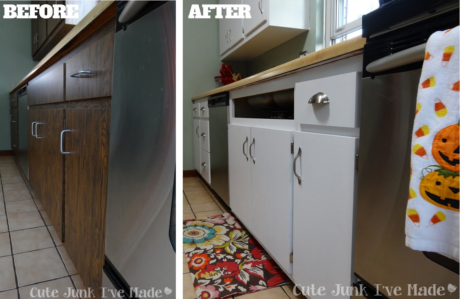 how to clean laminate cabinets