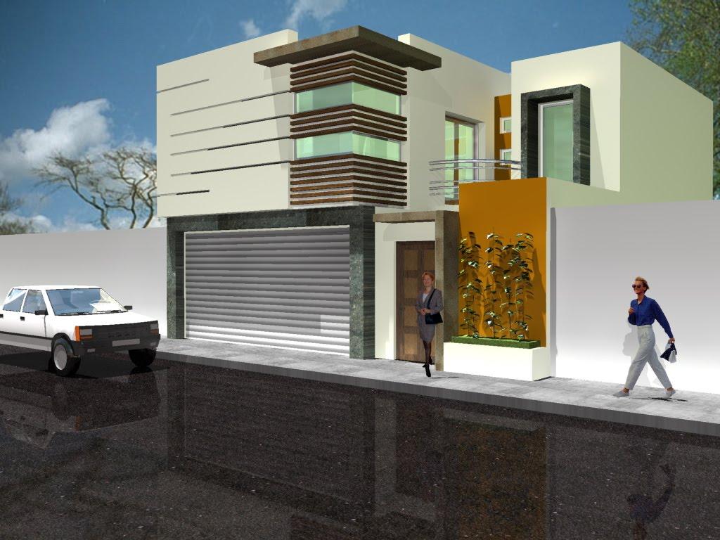 Decoraci n minimalista y contempor nea fachadas modernas for Frentes de casas minimalistas