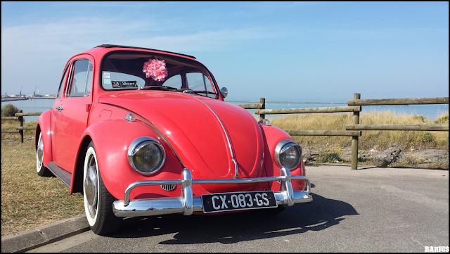 Ancienne Volkswagen Coccinelle lors du meeting Drivers Côte d'Opale