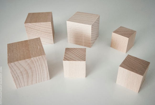 wooden cubes blocks