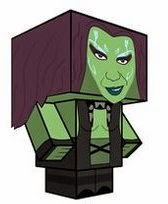 Guardians Of The Galaxy Papercraft Gamora Cubeecraft