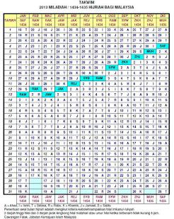 Takwim 1434 Hijrah