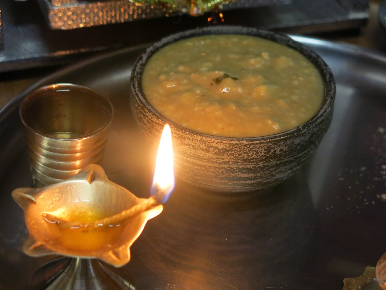 Chatua Pana with Diya for Pana Sankranti