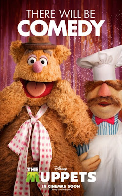 "The Muppets Character Movie Poster Set - Fozzie Bear & the Swedish Chef ""There Will Be Comedy"""