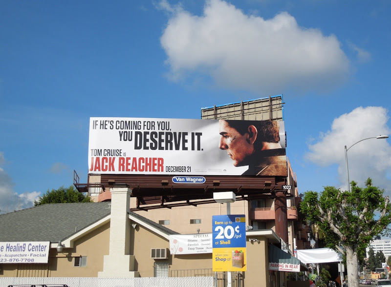 Tom Cruise Jack Reacher movie billboard
