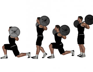 Barbell Walking Lunges