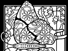Stained Glass Coloring Pages Christmas