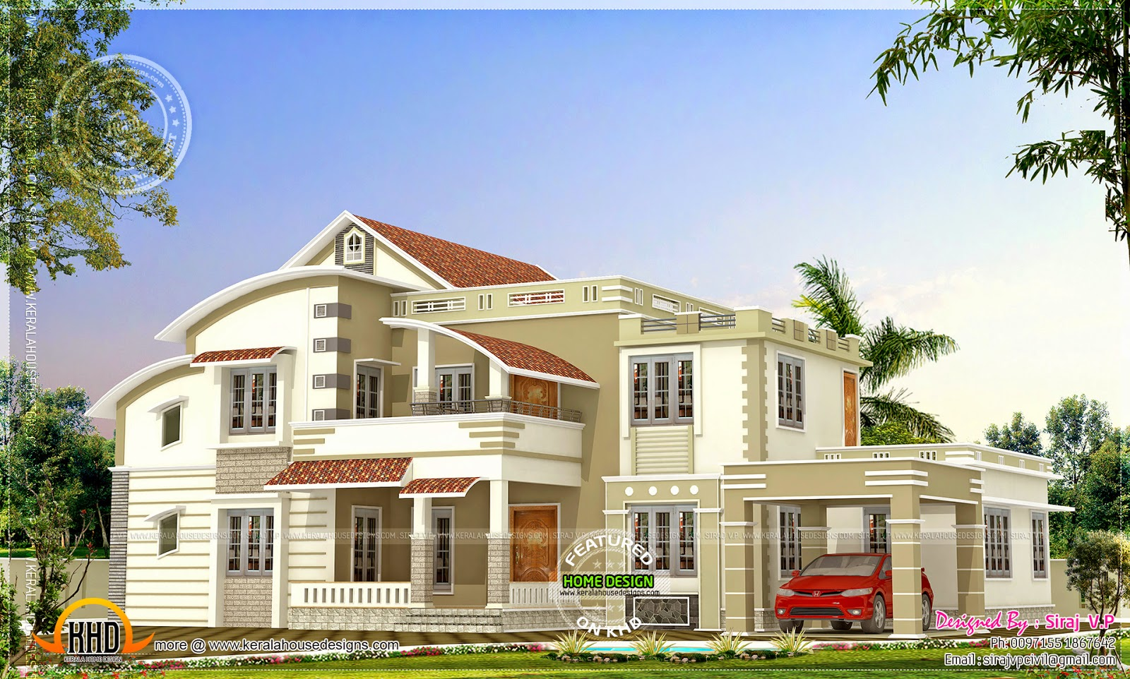 389 square yard luxury villa kerala home design and 200 yards house design