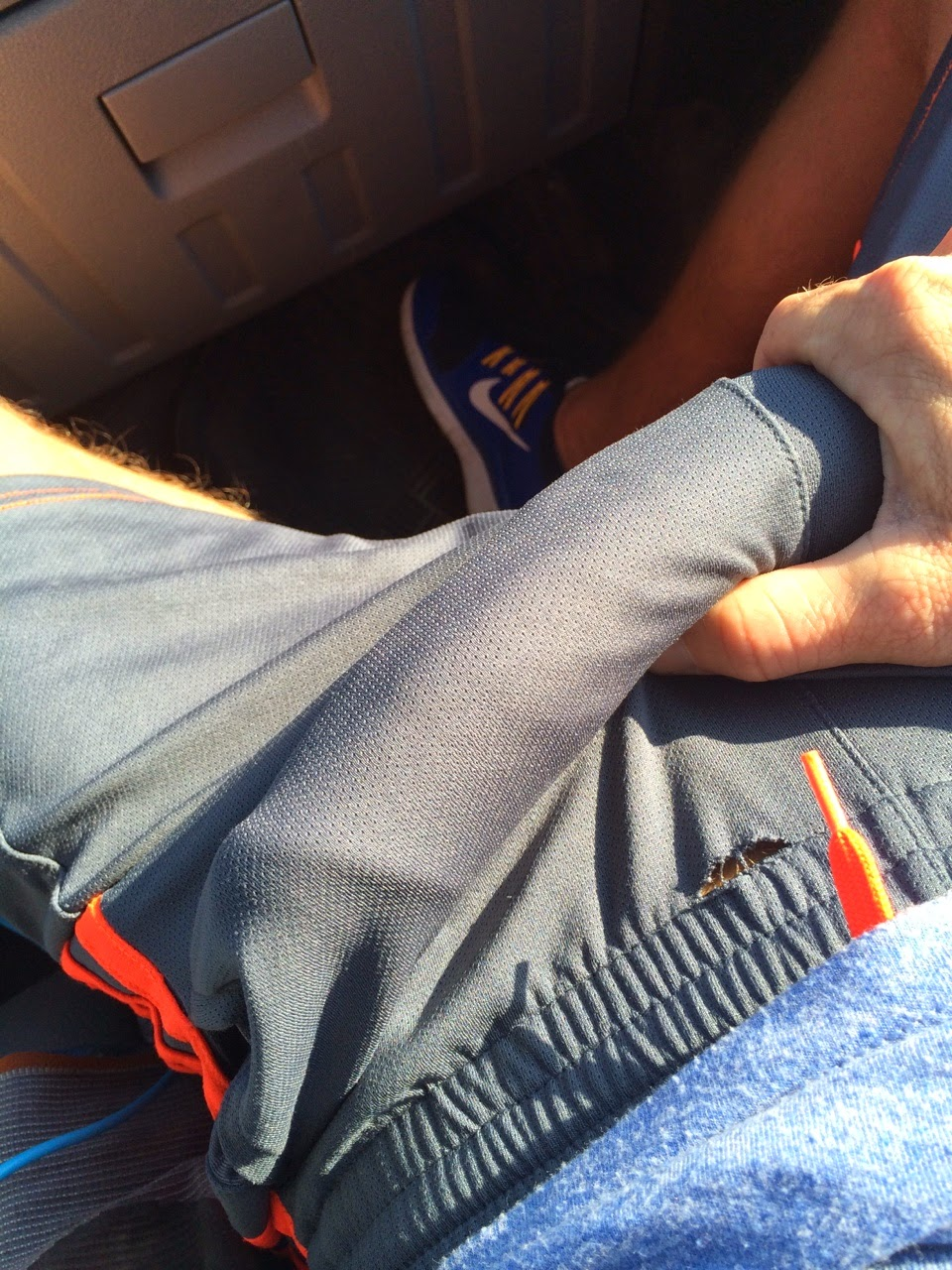 Basketball shorts cock