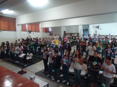 """Retiro """"Adolescentes Sem-Fronteiras - Missionários de Cristo"""", em Divinópolis (MG)."""