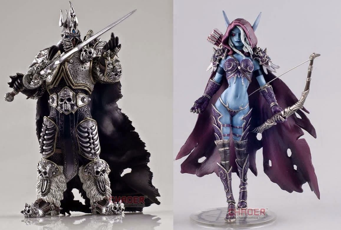Sylwanas Arthas Figurka World of Warcraft
