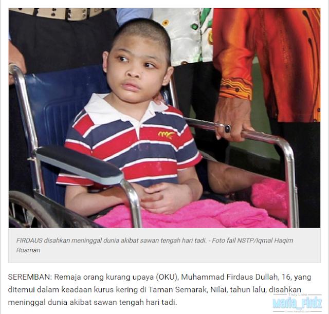 Remaja OKU Yang DIjumpai Ditinggal Di Rumah Kosong Tahun Lalu, MENINGGAL DUNIA!