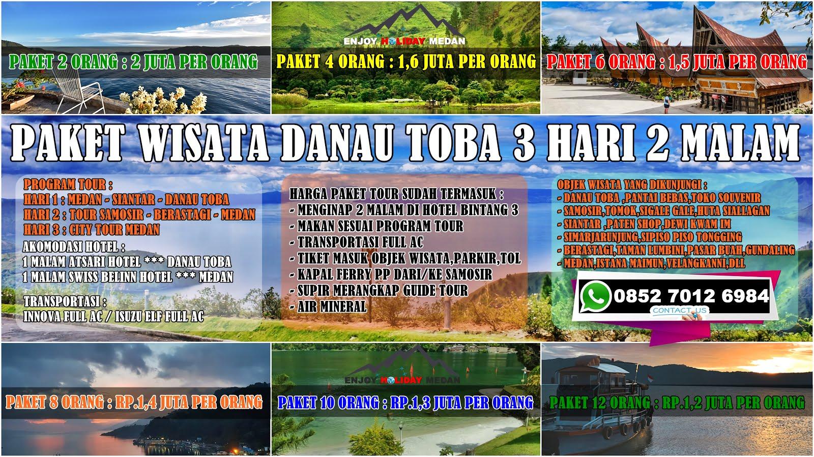 Paket Tour Medan Danau Toba 3 Hari 2 Malam