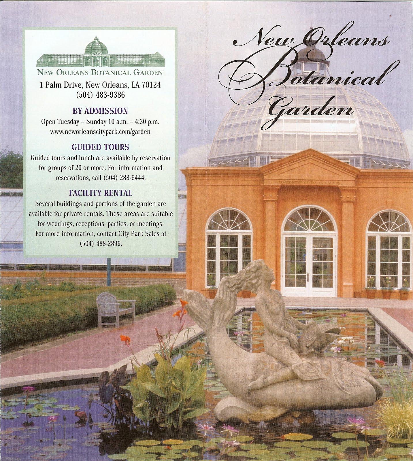 New Orleans Botanical Garden Brochure And Garden ...