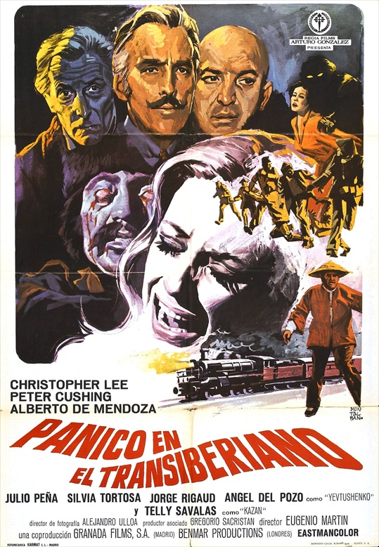 Horror Express Film Poster Starring Christopher Lee, Peter Cushing, with Telly Savalas