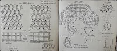 Jogo de cozinha em crochê com gráfico