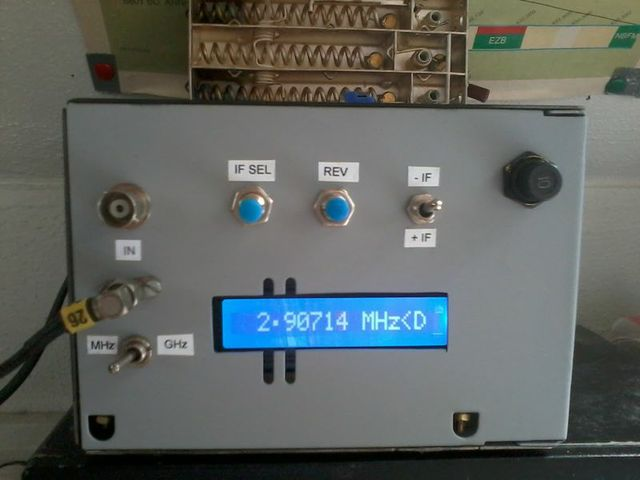 Computer Frequency Counter : Ron s radio corner ghz frequency counter ready