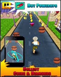 Grandpa Run 3D Mod Apk v1.0 screenshot